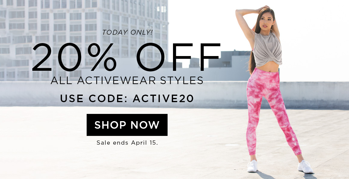 20% off Activewear