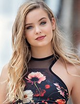 Headshot for model search finalist Isabella Voorhees