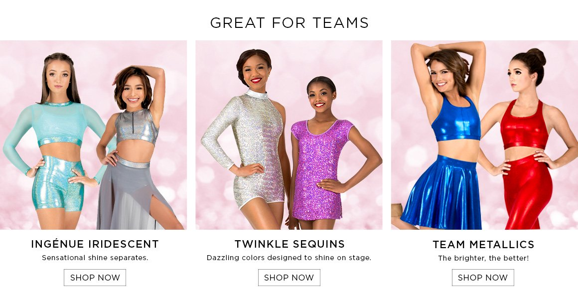 Dance clothing styles suitable for teams