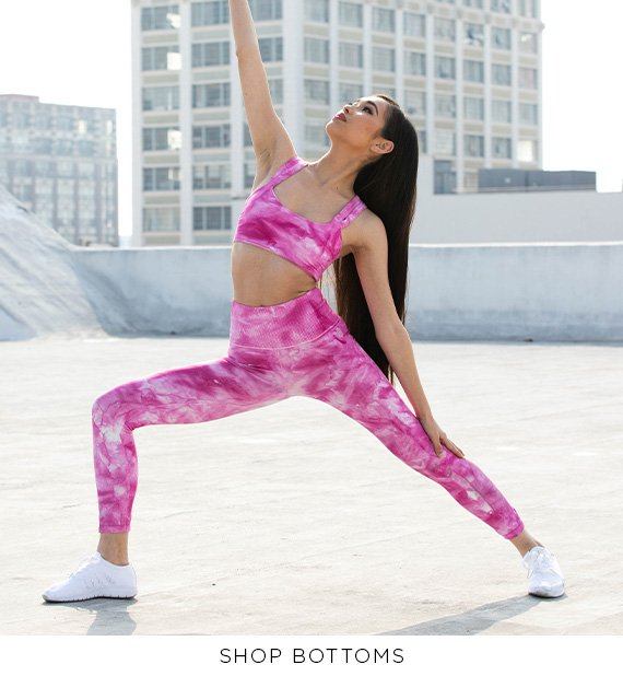 image of a dance wearing a pink leggings